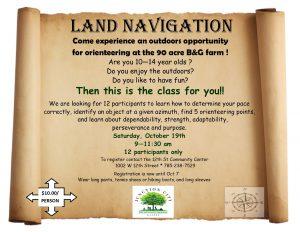 Land Navigation flyer