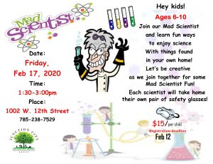 Mad scientists flyer