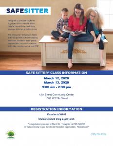 Safe Sitter course flyer